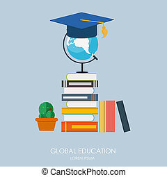 Global Education Concept. Trends and innovation in education.