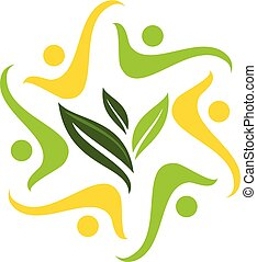global, ekologi, lösning, gemenskap