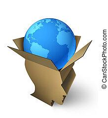 global, envío, dirección