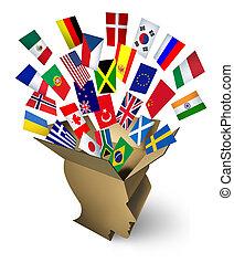global, envío, soluciones