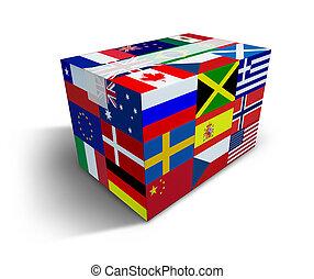 global, envío, y, entrega