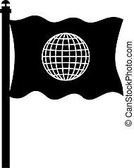 global, fahne