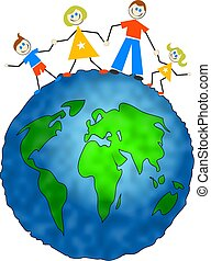 global family - happy caucasian family