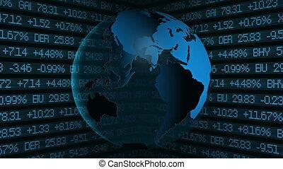 Global Finance Stock Market Animati