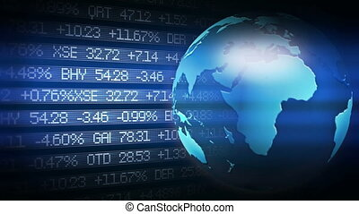 Global Finance Stock Market Animati