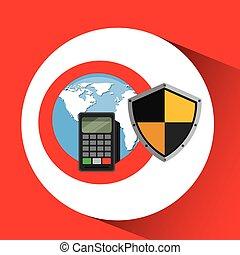 global finans, pengeskab, bankvirksomhed, beskyttelse, skjold
