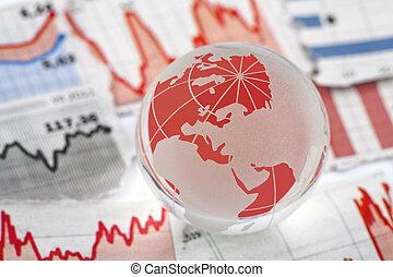 global, finanziell, krise