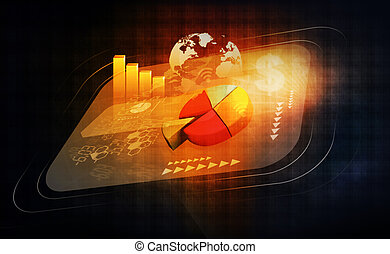 global, finanziell, wirtschaft, hintergrund