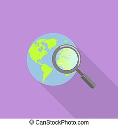 Global find icon, flat style