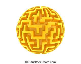 Global golden labyrinth