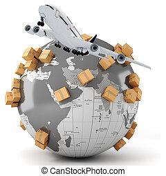 global, handel, begrepp, affär, 3