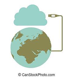 global hosting data center icon