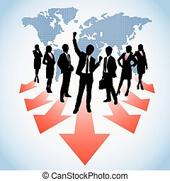 Global human resources business people work team from world ...