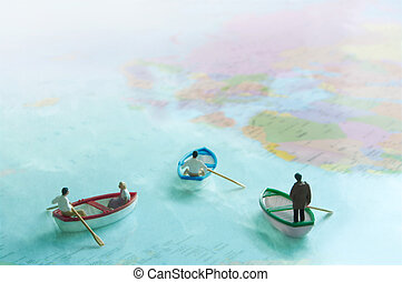 Global immigration concept