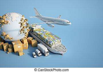 global, industrie transport