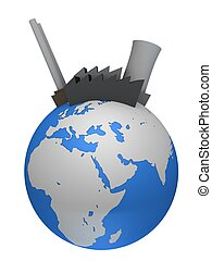 global industry - 3d rendered illustration of industry...