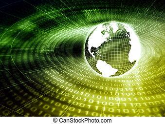 global, información, concepto