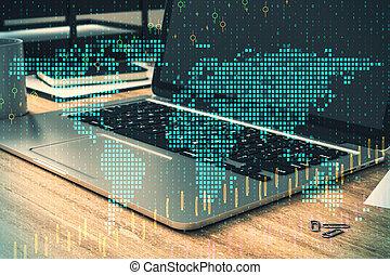 global, information, concept, commercer