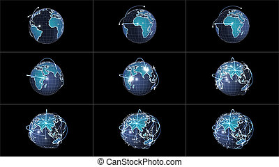 Global information networking collage