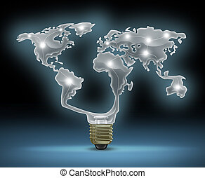 Global Innovation - Global innovation symbol with a glowing...