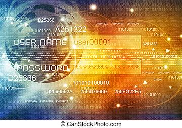 Global Internet concept background