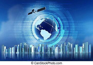 global, internet, concepto