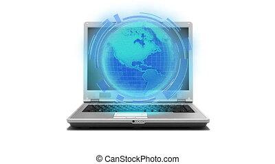 Global internet laptop