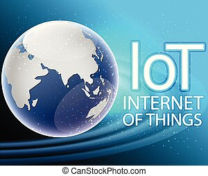 Global internet of things connection around the world zone concept.vector illustration eps10
