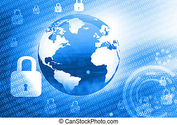 Global internet security concept