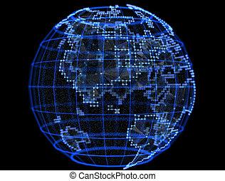 global,  Internet, telecomunicações, planeta,  digital, redes