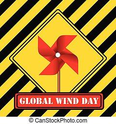 global, jour, vent