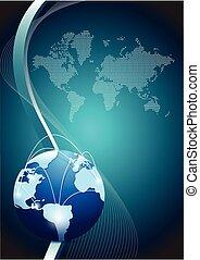 global kommunikation, begreb, netværk