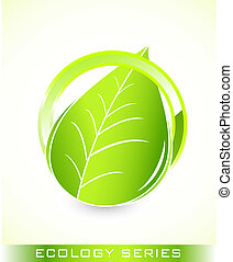 Global leaf green concept - Abstract green nature eco...