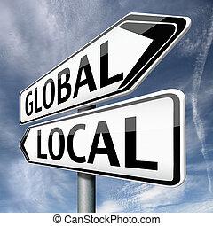 global, local, ou