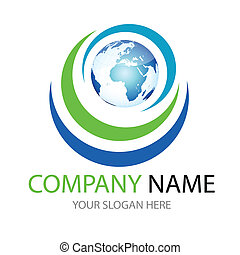 global logo - glossy global, world logo, icon