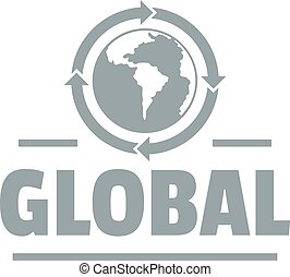 Global logo, simple gray style