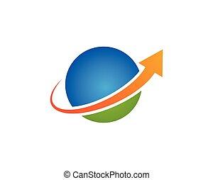global, logo, vecteur, gabarit