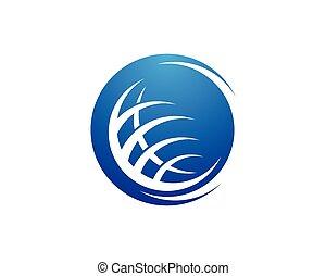 global, logo, vecteur, illustration, icône