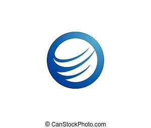 global, logo, vektor, schablone