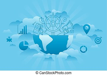 Global Management blue