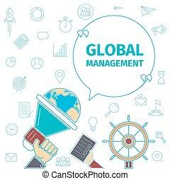 Global Management concept