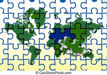 global, mapa