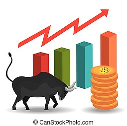 global market and stock exchange design vector illustration clip rh canstockphoto com stock market clipart stock market arrow clip art