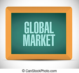 global market chalkboard sign concept