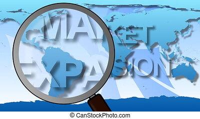 Global Market expansion animation
