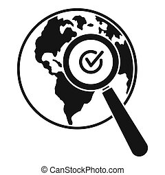 Global market search icon, simple style