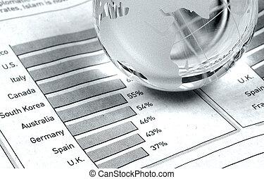 Global Markets - Globe and Bar Chart