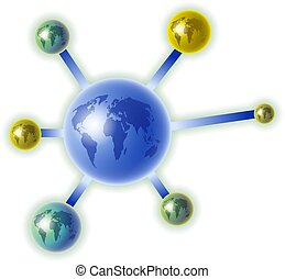 global molecule - a molecule made up of world globes...