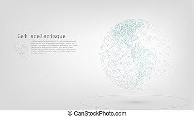 global, mondiale, connexion, concept, réseau