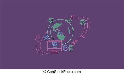 global, mondiale, infographic, numérique